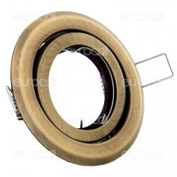 Kanlux ARGUS CT-2115-BR/M Portafaretto Orientabile Rotondo da Incasso per Lampadine GU10 e GU5.3 - mod.330