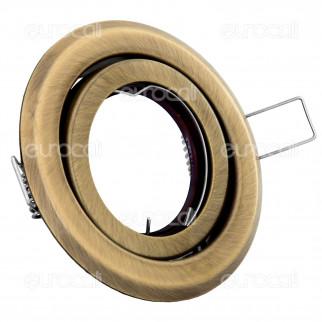 Kanlux ARGUS CT-2115-BR/M Portafaretto Orientabile Rotondo da Incasso per Lampadine GU10 e GU5.3