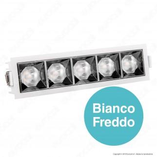 V-Tac PRO VT-2-21 Faretto LED SMD 20W da Incasso Rettangolare 12° CRI≥90 Chip Samsung - SKU 981 / 980 / 979