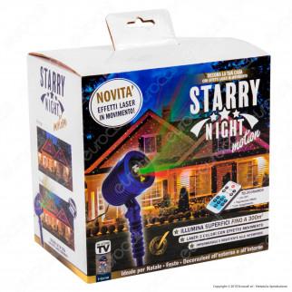 Kit 2 Intergross Starry Night Motion Proiettore Luce con Effetti Laser in Movimento