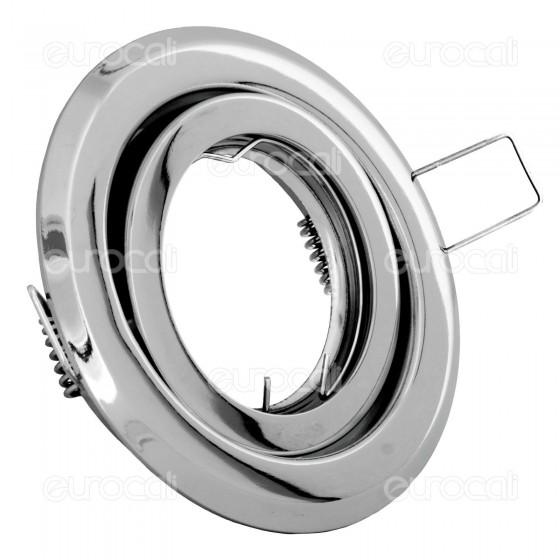 Kanlux ARGUS CT-2115-C Portafaretto Orientabile Rotondo da Incasso per Lampadine GU10 e GU5.3