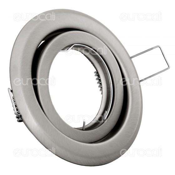 Kanlux ARGUS CT-2115-C/M Portafaretto Orientabile Rotondo da Incasso per Lampadine GU10 e GU5.3
