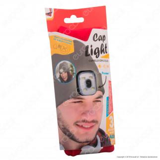 Kit 4 Intergross Cap Light Cappello con Lampada LED Removibile e Ricaricabile