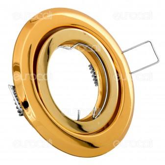Kanlux ARGUS CT-2115-G Portafaretto Orientabile Rotondo da Incasso per Lampadine GU10 e GU5.3