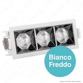 V-Tac PRO VT-2-12 Faretto LED SMD 12W da Incasso Rettangolare 38° CRI≥90 Chip Samsung - SKU 990 / 989 / 988