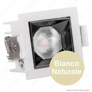 V-Tac PRO VT-2-04 Faretto LED SMD 4W da Incasso Quadrato 38° CRI≥90 Chip Samsung - SKU 987 / 986 / 985