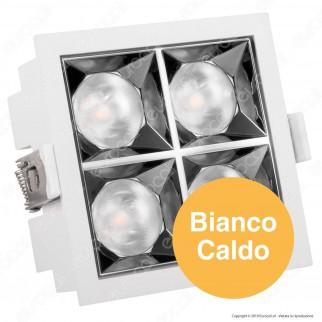 V-Tac PRO VT-2-16 Faretto LED SMD 16W da Incasso Quadrato 12° CRI≥90 Chip Samsung - SKU 978 / 977 / 976
