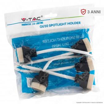 V-Tac VT-9659 Confezione 5 Portalampada per Lampadine LED GU10 con Cavi - SKU 36205