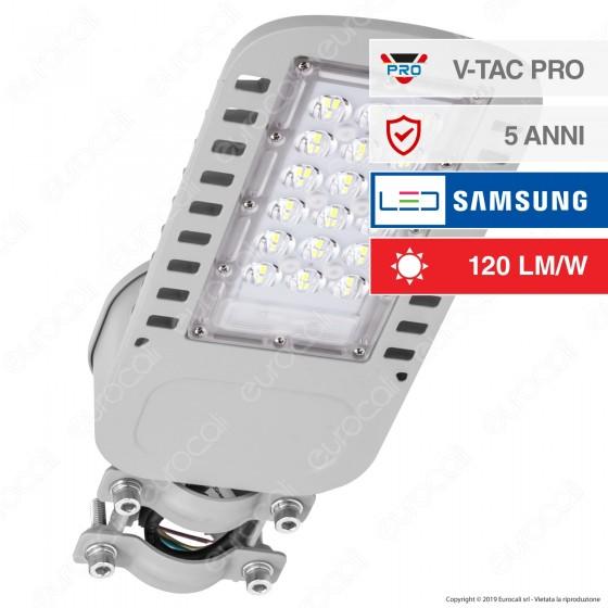V-Tac PRO VT-34ST Lampada Stradale LED 30W Lampione SMD Chip Samsung - SKU 956 / 957