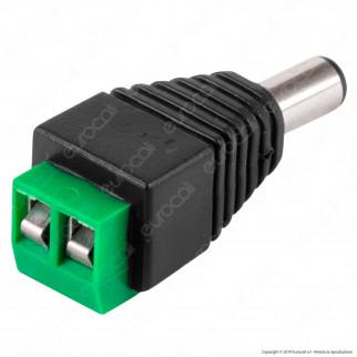 Life Connettore da Morsetti a Vite a Jack 2.1 per Strisce LED Monocolore - mod. 381003103M