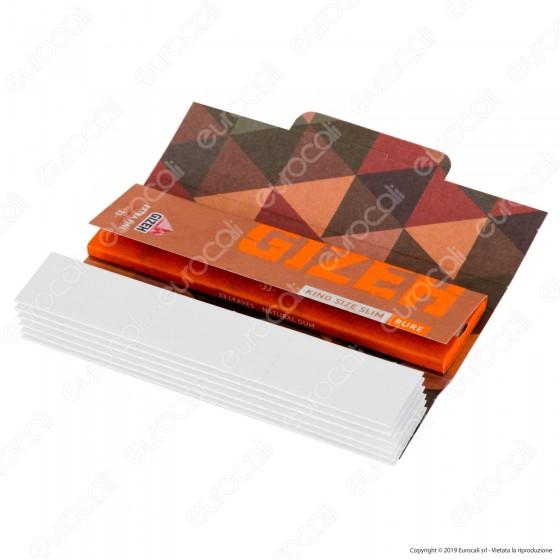 Gizeh Pure King Size Duo Cartine Lunghe Slim e Filtri in Carta - Libretto
