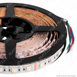 ZNLED Striscia LED 5050 Multicolore RGB+W 60 LED/Metro 24V IP20 - Bobina da 5 Metri - mod. 63551