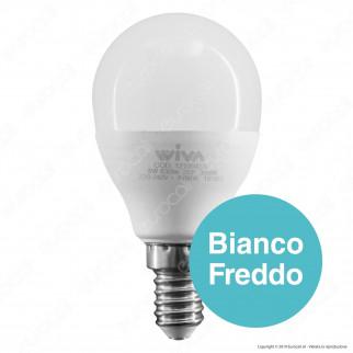 Wiva Lampadina LED E14 8W MiniGlobo P45 - mod. 12100433 / 12100434 / 12100435