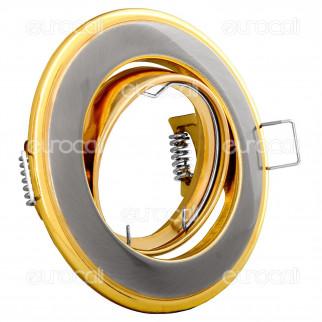 Kanlux HORN CTC-3115-SN/G Portafaretto Orientabile Rotondo da Incasso per Lampadine GU10 e GU5.3