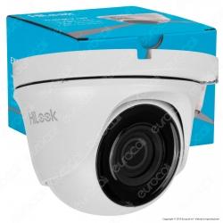 Hikvision HiLook Turbo HD Camera 2MP Telecamera di Sorveglianza Analogica a Colori EXIR 1080p 2,8mm IP66 - mod. THC-T120-M