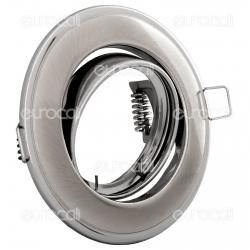 Kanlux HORN CTC-3115-SN/N Portafaretto Orientabile Rotondo da Incasso per Lampadine GU10 e GU5.3 - mod.2831