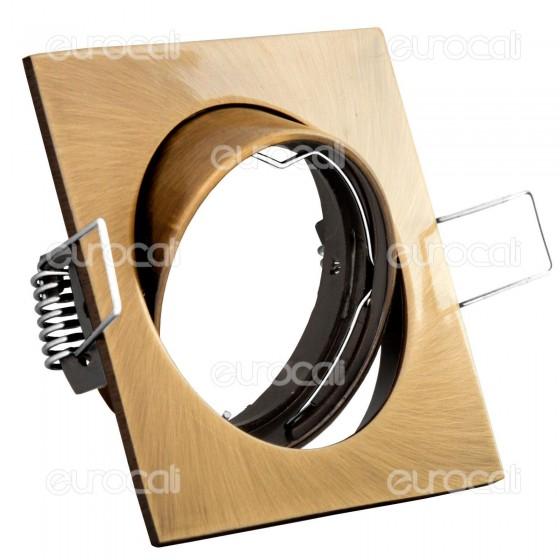 Kanlux NAVI CTX-DT10-AB Portafaretto Orientabile Quadrato da Incasso per Lampadine GU10 e GU5.3
