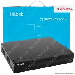 Hikvision HiLook Turbo HD Registratore DVR per Telecamere di Sorveglianza 4in1 con 8 Canali 4 MP - mod. DVR-208Q-K1
