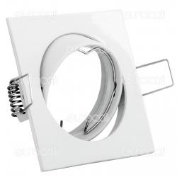 Kanlux NAVI CTX-DT10-W Portafaretto Orientabile Quadrato da Incasso per Lampadine GU10 e GU5.3 - mod.2550