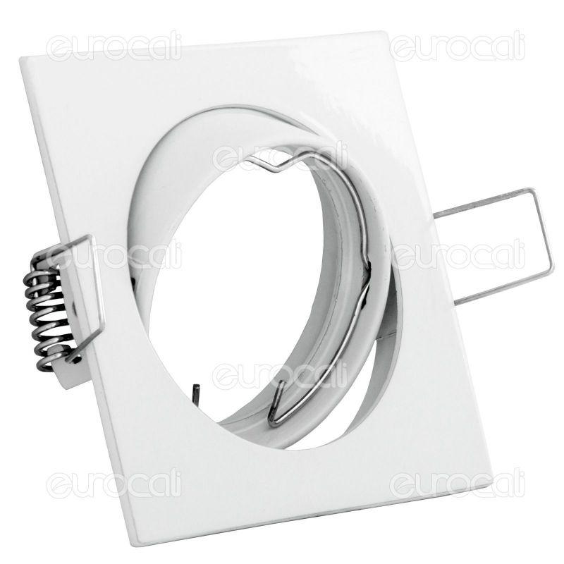 Faretti Quadrati Orientabili: V tac faretto incasso 5w bianco caldo quadrato orientabile ...