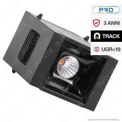 V-Tac PRO VT-4141 Magnetic Linear Spotlight Faretto LED Magnetico 1W Nero CRI≥90 30° - SKU 7958 / 7959