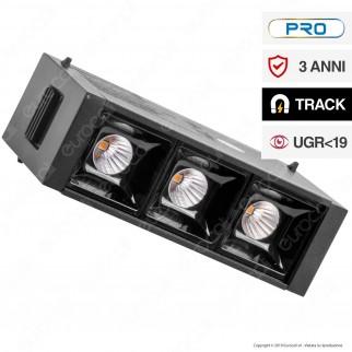 V-Tac PRO VT-4143 Magnetic Linear Spotlight Faretto LED Magnetico 3W Nero CRI≥90 30° - SKU 7960 / 7961