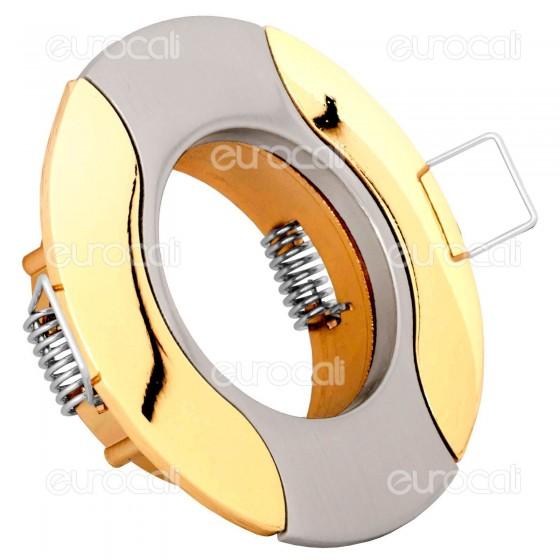 Kanlux AKRA CT-DS14SN/G Portafaretto Rotondo da Incasso per Lampadine GU10 e GU5.3