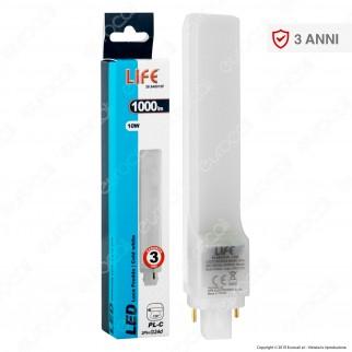 Life Lampadina LED G24 10W Tower Horizontal Light PL-C - mod. 39.940010C / 39.940010F