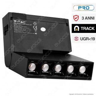 V-Tac PRO VT-4210 Magnetic Linear Track Light Faretto LED Magnetico 10W Nero CRI≥90 30° - SKU 7963