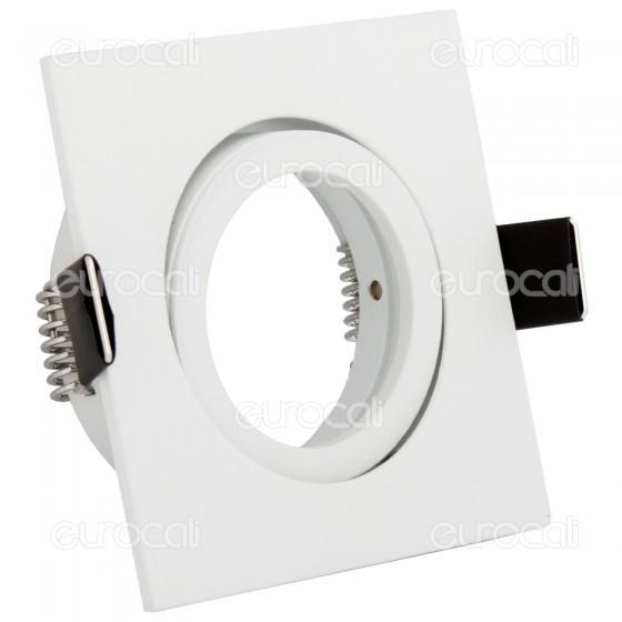 Kanlux DALLA CT-DTL50-W Portafaretto Orientabile Quadrato da Incasso per Lampadine GU10 e GU5.3