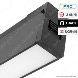 V-Tac PRO VT-4121 Magnetic Linear Light Faretto LED Magnetico 20W Nero CRI≥90 100° - SKU 7954 / 7955