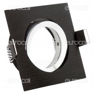 Kanlux GWEN CT-DTL50-B Portafaretto Orient. Quadrato da Incasso per Lampadine GU10 e GU5.3