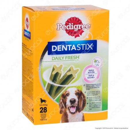 Pedigree Dentastix Fresh Medium per l'igiene orale del cane - Confezione da 28 Stick