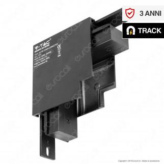 V-Tac Outer Corner Connector Connettore Angolare 90° per Binari Magnetici Track Light Nero - SKU 7973