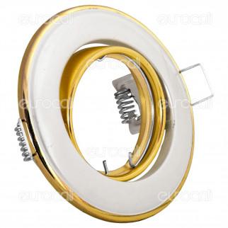 Kanlux HORN CTC-3115-PS/G Portafaretto Orientabile Rotondo da Incasso per Lampadine GU10 e GU5.3