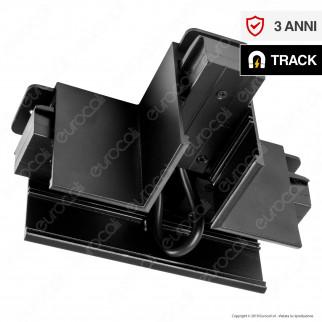 V-Tac T Connector Connettore Angolare a T per Binari Magnetici Track Light Nero - SKU 7975