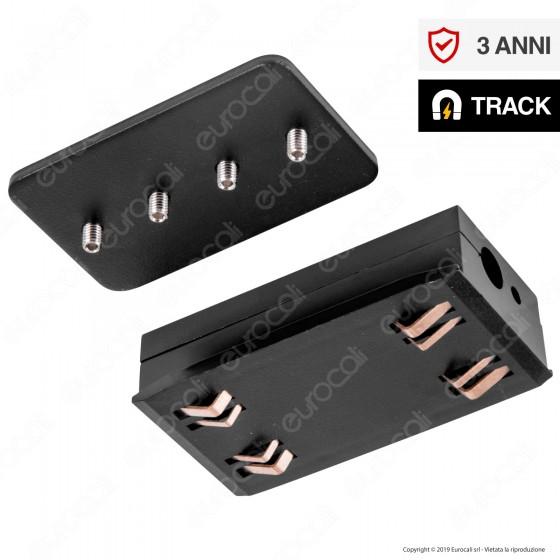V-Tac Power & Track Connector Connettore per Binari Magnetici Track Light Nero - SKU 7971