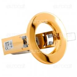 Kanlux RAGO DL-R50-G Portafaretto Rotondo da Incasso per Lampadine E14 - mod.1072