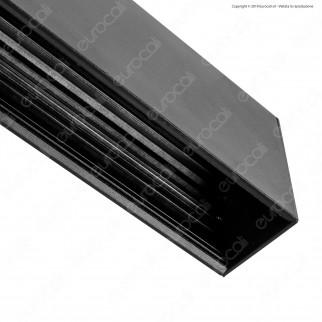 V-Tac Binario in Alluminio Nero per Track Lights Magnetiche Lunghezza 1000mm - SKU 7951