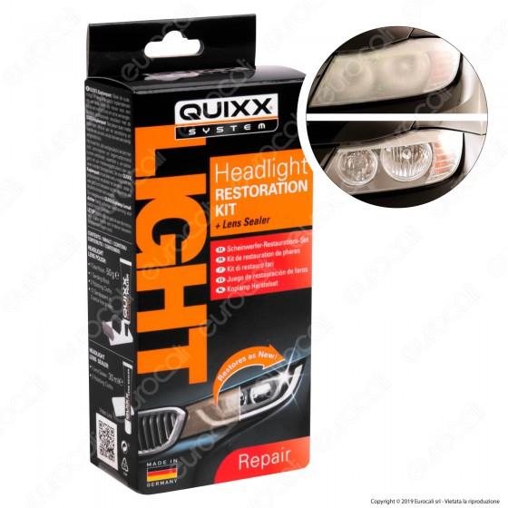 Quixx System Headlight Restoration Kit Restauro Fari per Lucidatura e Sigillatura