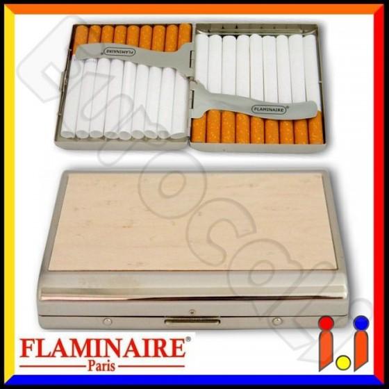 Flaminaire Astuccio Porta Sigarette in Metallo e Legno