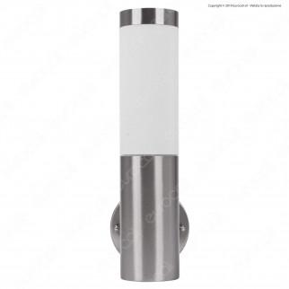 V-Tac VT-833 Portalampada da Giardino Wall Lamp da Muro Rotondo per Lampadine E27 - SKU 8624