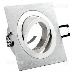 Kanlux SEIDY CT-DTL50-AL Portafaretto Orientabile Quadrato da Incasso per Lampadine GU10 e GU5.3 - mod.18281