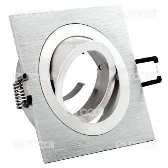 Kanlux SEIDY CT-DTL50-AL Portafaretto Orientabile Quadrato da Incasso per Lampadine GU10 e GU5.3