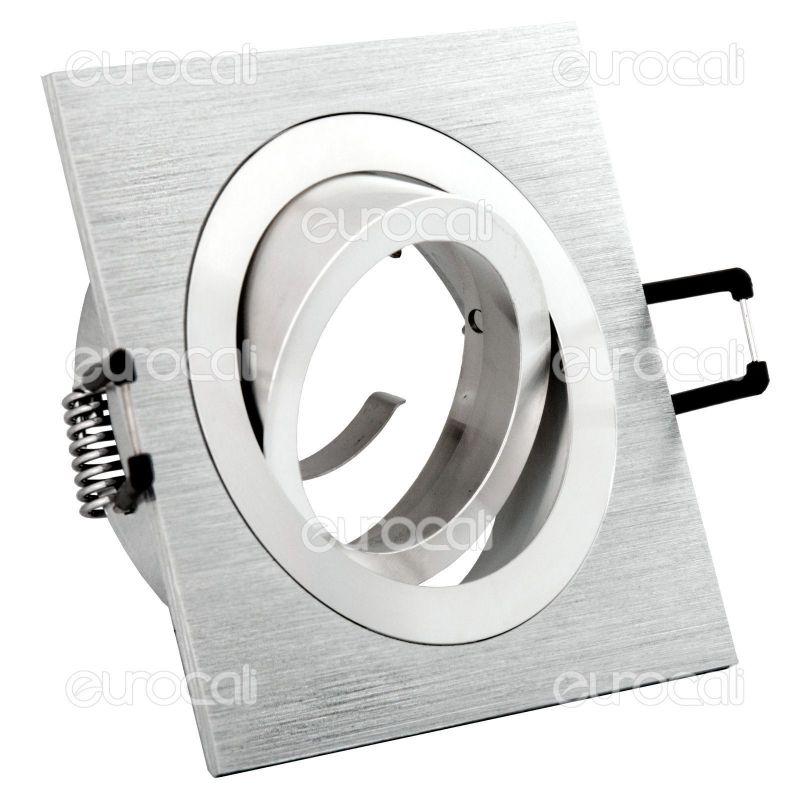 Ctdtl50al portafaretto orientabile quadrato da incasso per gu10, gu5.3