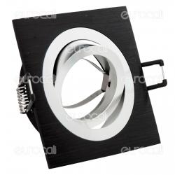 Kanlux SEIDY CT-DTL50-B Portafaretto Orientabile Quadrato da Incasso per Lampadine GU10 e GU5.3 - mod.18289