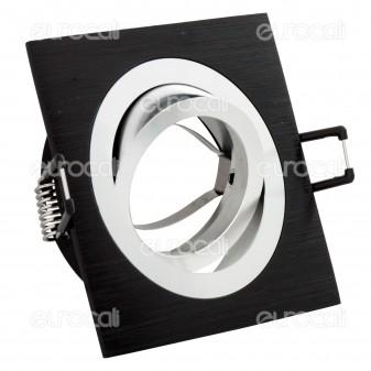 Kanlux SSEIDY CT-DTL50-B Portafaretto Orientabile Quadrato da Incasso per Lampadine GU10 e GU5.3