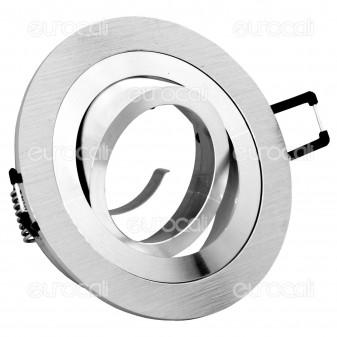 Kanlux SEIDY CT-DTO50-AL Portafaretto Orientabile Rotondo da Incasso per Lampadine GU10 e GU5.3