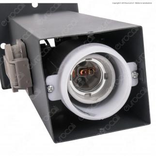 V-Tac VT-1156-2 Portalampada per Lampadine E27 da Giardino con Fissaggio a Terra e 2 Prese Schuko IP44 - SKU 8822