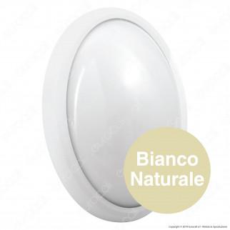 Wiva Plafoniera LED 12W mod. BULK Bianca Forma Ovale IP65 - mod. 51300013